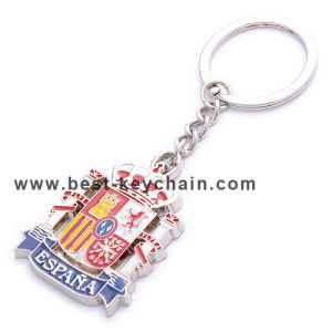Custom Metal Souvenir Spain Enamel Gift Keychain (BK51874) pictures & photos