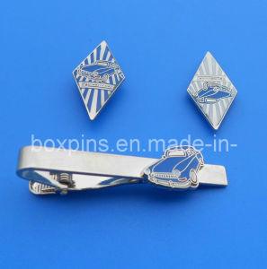 Set of Metal Tie Clip & Badges&Cufflink
