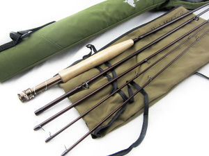Classic Medium Fast Action Fly Fishing Rod with Double Colored Reel Seat