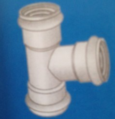 UPVC PVC Double Rubber Socket Spigot Fittings Tee