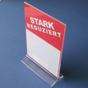 Acrylic Sign Holder, T Display