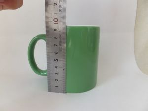 11oz Green Color Glazed Ceramic Coffee Cup (WSY923M)