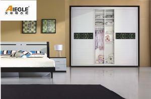 Modern Style Shutter Sliding Door Wardrobe for Bedroom Furniture (AWB008)