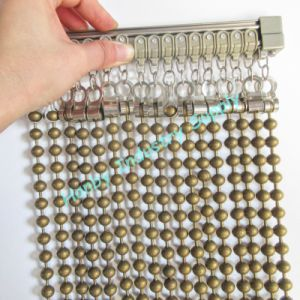 10.0mm Plated Bronze Steel Beaded Ball Chain for Curtain