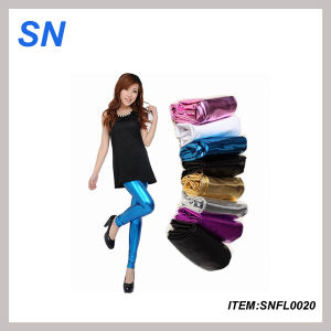 Fashion Profesional Lady Leather Leggings (SNFL0020) pictures & photos