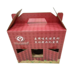 Corrugated Soy Milk Packaging Box pictures & photos