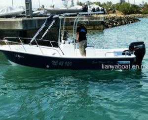 Liya 8person Fiberglass Hull Fishing Boat with Outboard Motor pictures & photos