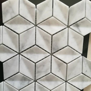 Bianco Carrara White Marble Mosaic Tiles for Kitchen Backsplash & Bathroom pictures & photos