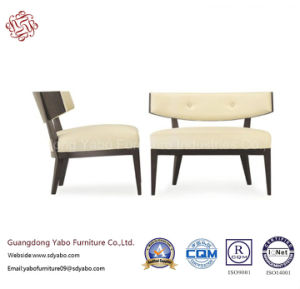 Hotel Furniture with Leisure Chair with White Leather (YB-0685B) pictures & photos