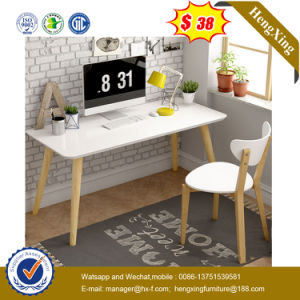 White Color MDF Laminated Wooden Computer Office Table Desk (UL-MFC327) pictures & photos