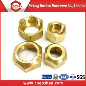 Customized Turning Parts Brass Hex Nut pictures & photos
