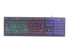 Gaming Keyboard with Rainbow Color&Metal Front Panel, 19 Keys No Conflict pictures & photos