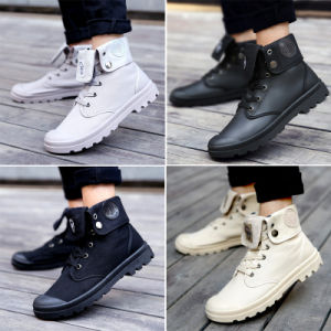 Autumn and Winter Men′s Boots Martin Boots Rubber Sole Trend of Korean Canvas Boots pictures & photos