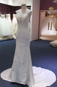 Fashion Lace Satin Mermaid Bridal Wedding Gown pictures & photos