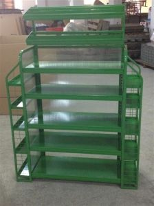 Lubricating Oil Metal Floor Display Stand Display Rack with Logo pictures & photos