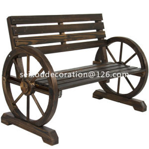 Wooden Garden Bench Timber Outdoor Patio Park Wagon Wheel Chair Seat Furniture Wwb001
