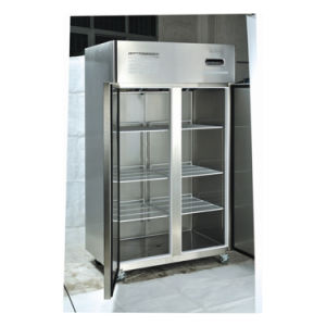 2 Glass Door Restaurant Commercial Equipment Stainless Steel Freezer pictures & photos