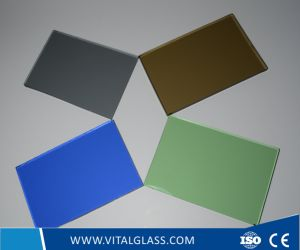 Dark Bronze/Blue Float Glass Stained/Tinted/Colored/Painted Float Glass pictures & photos
