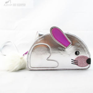 Novelty Rabbit Silver Metallic PU Messenger Bag pictures & photos