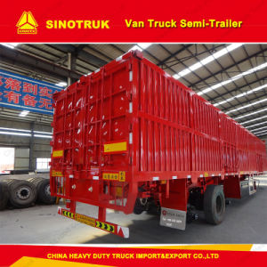Tri Axle Cargo Semi Trailer Van Truck Trailer pictures & photos