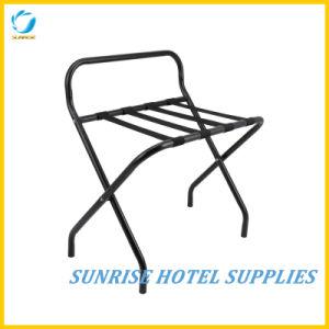 Hotel Black Powder Coating Foldable Luggage Rack pictures & photos