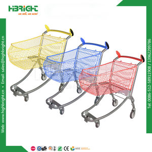 Curved Handle Best Quality Shopping Cart with Powder Coating pictures & photos