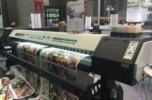 3.2m Size Eco Solvent Printing Machine Sj-1260 with Epson Dx7 Head pictures & photos