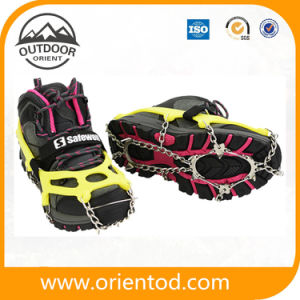 Portable 12-Teeth Camping Climb Ice Crampon Ice Walking Cleat pictures & photos