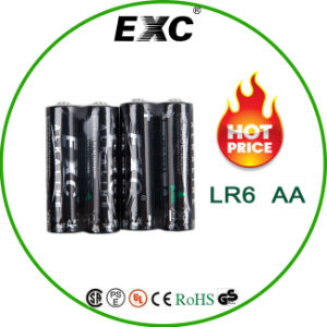 AA Lr6 Battery Alkaline Batter Dry Four Packs Lr6 pictures & photos