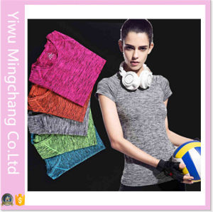 2016 New Design Quick Dry OEM Custom Fit Yoga Sport T Shirt pictures & photos