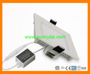9W Slim LED Panel Light Ceiling Downlight with PIR pictures & photos