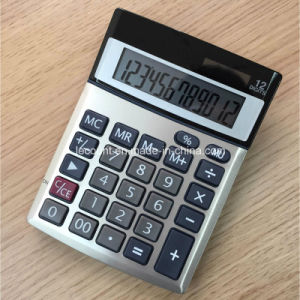 12 Digits Dual Power Office Calculators with Aluminium Cover (CA1206A) pictures & photos