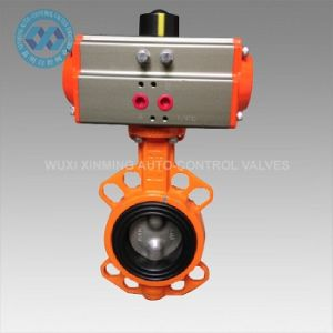 Soft-Sealed Pneumatic Butterfly Valve with Actuator pictures & photos