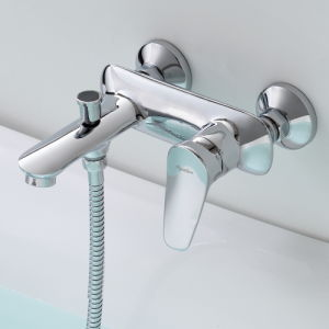 Aqualem Wall Mounted Brass Bath Shower Faucet