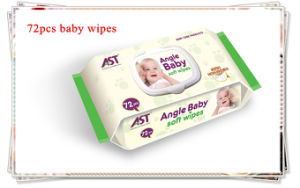 Organic Cotton Baby Wipes 72PCS Stock in Wholesale pictures & photos