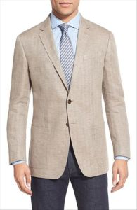 OEM Wholesale Fashion Trim Fit Linen Suit Blazer for Men pictures & photos