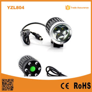 3X CREE Xm-L T6 LED 1500lumens Aluminum Bicycle Light (YZL804) pictures & photos