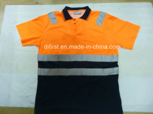 Polo T-Shirt with Reflective Strip pictures & photos
