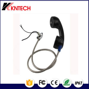 Mobile Phone Handset T6 Stainless Steel Telephone Handset Armoured Line Cable with 3.5mm Jack pictures & photos