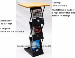 Exhibition Counter Display with 3 Literature Pockets pictures & photos