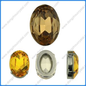 13*18mm Smoked Topaz Oval Cabochon Cushion Cut Fancy Crystal Stone Cubic Fancy Stone for Jewelry Making pictures & photos