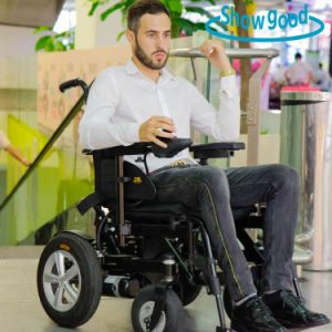 Showgood Hospital Foldable Electric Wheelchair for Disabled People and Elderly People