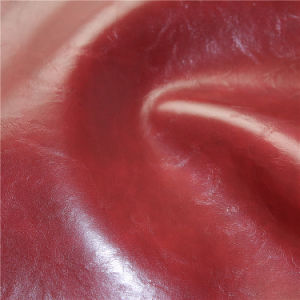 Top Grade Crazy Horse PVC Synthetic Leather for Furniture Upholstery pictures & photos