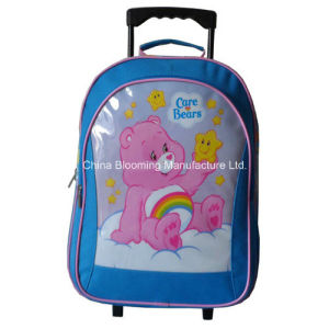 Promotional School Stationery Gift Set Trolley Rolling Backpack Lunch Bag pictures & photos