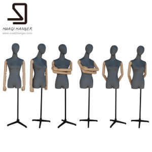 Female Mannequins with Head, Wooden Arms, Female Mannequins pictures & photos