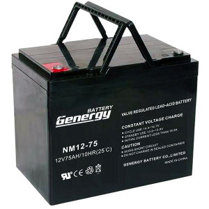 12V 75ah Lead Acid Battery (NM12-75X) for Solar Power System