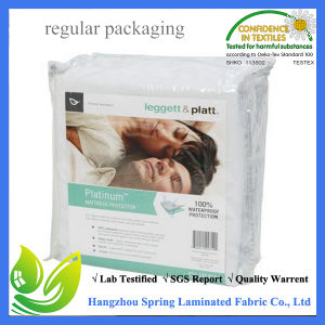 100% Cotton Terry Waterproof Mattress Pad with Zipper pictures & photos