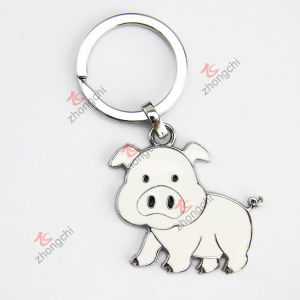 Cheap Alloy Enamel Cute Pig Metal Custom Key Chain