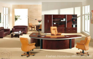 High Grade Arc-Shaped Wooden Manager Executive Table (HF-EK80) pictures & photos