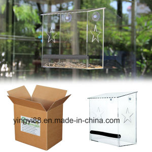 100% Clear Acrylic Window Bird House, Best Outside Window Mounted Bird Feeders for Kids & Cats pictures & photos